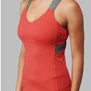Lululemon Push Your Limits Red Tank Grey Straps